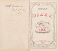 Militaria:Ephemera, Union Soldier's Diary for 1864 Recorded by William H. Stoddard, ...