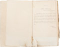 Militaria:Ephemera, [Civil War]. A.W. Pearson, Acting Assistant Paymaster, Mississippi River Squadron, Bound Orders. ...
