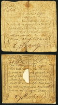 Colonial Notes:Massachusetts, Massachusetts October 18, 1776 Very Good.. ... (Total: 2 notes)