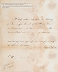 """Autographs:U.S. Presidents, Andrew Jackson Signed """"Affix the Seal"""" Document...."""