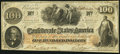 Confederate Notes:1862 Issues, T41 $100 1862 PF-22? Cr. 320A?...