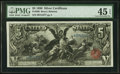 Large Size:Silver Certificates, Fr. 269 $5 1896 Silver Certificate PMG Choice Extremely Fine 45 EPQ.. ...