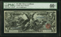 Large Size:Silver Certificates, Fr. 269 $5 1896 Silver Certificate PMG Extremely Fine 40 Net.. ...