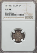 India:British India, India: British India Pair of Certified 2 Anna Coins 1874 1910,... (Total: 2 coins)