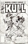 Original Comic Art:Covers, Ernie Chan and Rudy Nebres Kull the Destroyer #26 UnusedCover Original Art (Marvel, 1978)....