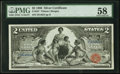 Large Size:Silver Certificates, Fr. 247 $2 1896 Silver Certificate PMG Choice About Unc 58.. ...