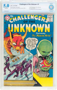 Challengers of the Unknown #1 (DC, 1958) CBCS VG/FN 5.0 Off-white pages