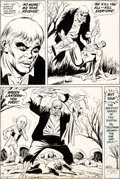 Original Comic Art:Panel Pages, Dick Dillin and Joe Giella Justice League of America #91Page 22 Original Art (DC, 1971)....