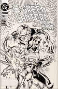 Original Comic Art:Covers, Darryl Banks and Romeo Tanghal Green Lantern #52 Cover Original Art(DC, 1994)....