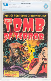 Tomb of Terror #15 (Harvey, 1954) CBCS GD/VG 3.0 White pages