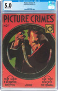 Platinum Age (1897-1937):Miscellaneous, Picture Crimes #1 (David McKay Publications, 1937) CGC VG/FN 5.0 Off-white to white pages....