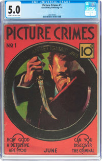 Picture Crimes #1 (David McKay Publications, 1937) CGC VG/FN 5.0 Off-white to white pages