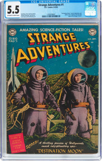 Strange Adventures #1 (DC, 1950) CGC FN- 5.5 Off-white to white pages