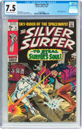 Silver Age (1956-1969):Superhero, The Silver Surfer #9 (Marvel, 1969) CGC VF- 7.5 Off-white to white pages....