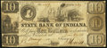 Obsoletes By State:Indiana, Terre Haute, IN- State Bank of Indiana Terre Haute Branch Spurious $10 May 14, 1858. ...