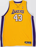 Basketball Collectibles:Uniforms, 2005-06 Brian Cook Game Worn Los Angeles Lakers Jersey....