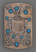 Silver Smalls:Match Safes, A Gorham Partial Gilt Silver and Enamel Card Case, Providence,Rhode Island, circa 1871. Marks: (lion-anchor-G),STERLING,...