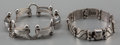 Silver Smalls:Other , Two Hector Aguilar Silver Bracelets, Taxco, Mexico, circa 1940-1945& 1948-1962. Marks: HA, MADE IN MEXICO, STERLING. 7-...(Total: 2 Items)