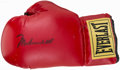 Boxing Collectibles:Autographs, Muhammad Ali Signed Boxing Glove....