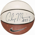 Basketball Collectibles:Balls, Alonzo Mourning Signed Basketball....