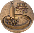Miscellaneous Collectibles:General, 1980 Moscow Summer Olympics Participation Medal....