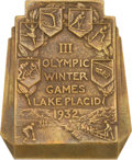Miscellaneous Collectibles:General, 1932 Lake Placid Winter Olympics Participation Medal. ...