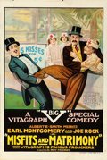 "Movie Posters:Comedy, Misfits and Matrimony (Vitagraph, 1918). One Sheet (28"" X 42"")....."