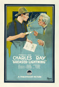 "Movie Posters:Comedy, Greased Lightning (Paramount, 1919). One Sheet (28"" X 42"").. ..."