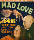 """Movie Posters:Horror, Mad Love (MGM, 1935). Trimmed Pressbook Cover (14"""" X 16.5"""").. ..."""