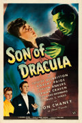 "Movie Posters:Horror, Son of Dracula (Universal, 1943). One Sheet (27"" X 41"").. ..."