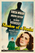 "Movie Posters:Hitchcock, Shadow of a Doubt (Universal, 1943). One Sheet (27"" X 41"") StyleC.. ..."