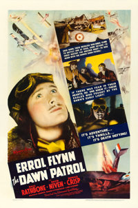 "The Dawn Patrol (Warner Brothers, 1938). One Sheet (27"" X 41"")"