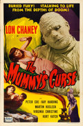 "Movie Posters:Horror, The Mummy's Curse (Realart, R-1951). One Sheet (27"" X 41"").. ..."