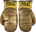 Boxing Collectibles:Memorabilia, 1971 Muhammad Ali vs. Joe Frazier I Souvenir Gloves....