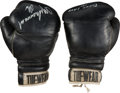 Boxing Collectibles:Memorabilia, 1975 Muhammad Ali Training Worn & Signed Boxing Gloves....