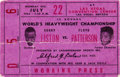 Boxing Collectibles:Autographs, 1963 Sonny Liston vs. Floyd Patterson Boxing Ticket Signed by Cassius Clay (Muhammad Ali). ...