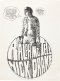 Music Memorabilia:Posters, Nick Drake Ewell Tech Folk Club Concert Poster For His Last EverPerformance (1970)....