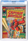 Magazines:Superhero, Captain Britain (Magazine) #8 (Marvel, 1976) CGC VF+ 8.5 Off-whiteto white pages....