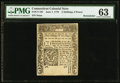 Colonial Notes:Connecticut, Connecticut June 7, 1776 2s 6d PMG Uncancelled Choice Uncirculated63.. ...
