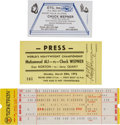 Boxing Collectibles:Memorabilia, 1975 Muhammad Ali vs. Chuck Wepner Fight Lot of 3....