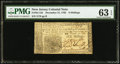 Colonial Notes:New Jersey, New Jersey December 31, 1763 6s PMG Choice Uncirculated 63 EPQ.....