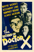 "Movie Posters:Horror, The Return of Dr. X (Warner Brothers, 1939). One Sheet (27"" X41"").. ..."