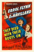 "Movie Posters:Western, They Died with Their Boots On (Warner Brothers, 1941). One Sheet(27"" X 41"").. ..."