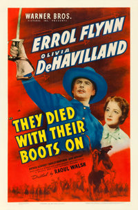"""They Died with Their Boots On (Warner Brothers, 1941). One Sheet (27"""" X 41"""")"""