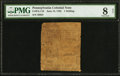 Colonial Notes:Pennsylvania, Pennsylvania June 18, 1764 1s PMG Very Good 8 Net.. ...