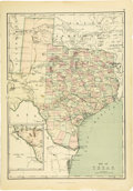 Western Expansion, 1873 Map of Texas...