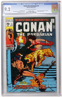 Conan the Barbarian #5 (Marvel, 1971) CGC NM- 9.2 Off-white to white pages