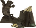 Antiques:Toys, Squirrel And Tree Stump Mechanical Bank...