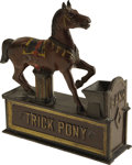 "Antiques:Toys, ""Trick Pony"" Mechanical Bank..."
