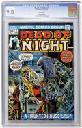 Bronze Age (1970-1979):Horror, Dead of Night #1 (Marvel, 1973) CGC VF/NM 9.0 White pages....